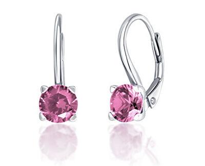 Cercei din argint cu zirconiu roz SVLE0503XF3R206