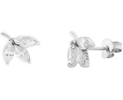 Stříbrné třpytivé náušnice SVLE0286SI7BI00