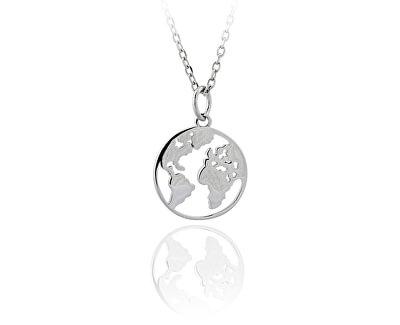 Stříbrný cestovatelský náhrdelník SVLN0085XH20042