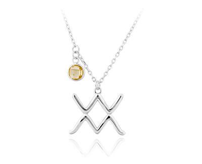 Strieborný náhrdelník s príveskom Vodnár SVLN0135X6100VO