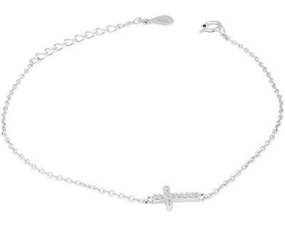 Stříbrný náramek s křížkem SVLB0090XI4BI16