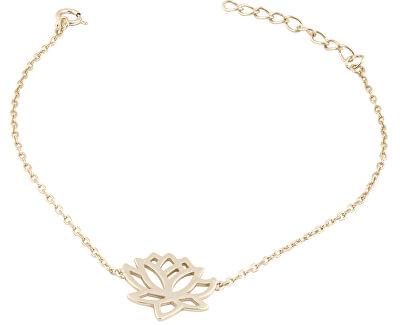 Stříbrný náramek s lotosovým květem SVLB0120X61GO16