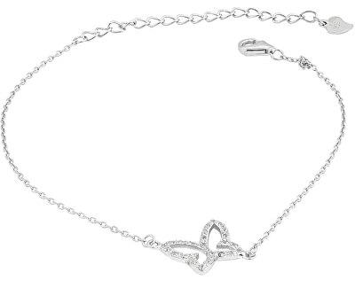 Stříbrný náramek s třpytivým motýlkem SVLB0067XG4BI18