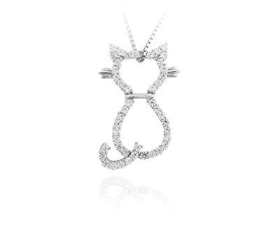 Stříbrný přívěsek Kočička SVLUPP242335