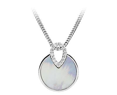 Pandantiv din argint cu sidef si zirconiu SVLP0336SH8BI00