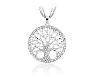 Stříbrný přívěsek se zirkony Strom života SVLP0594XH2BI00