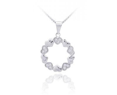 Pandantiv din argint cu zircon SVLP0454XI5BI00