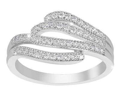 Stříbrný prsten s krystaly SVLML11282F7