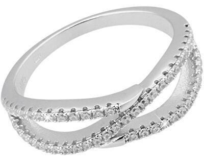 Stříbrný prsten s krystaly SVLML11508F7