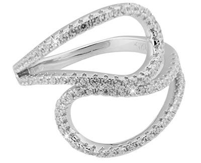 Stříbrný prsten s krystaly SVLML11510F7