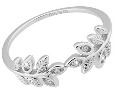 Stříbrný prsten s lístečky SVLR0169XI4BI