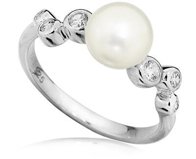 Stříbrný prsten s pravou perlou SVLR0151SH8P1