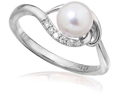 Stříbrný prsten s pravou perlou SVLR0235SH8P1