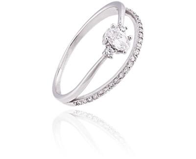Stříbrný prsten se zirkony SVLR0197XF3BI