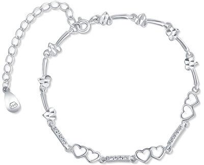 Stříbrný srdíčkový náramek SVLB0064XD5BI18