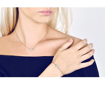 Pozlacený náramek s třpytivými krystaly KL Script Line 5512213