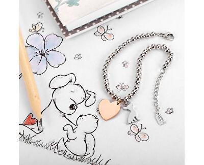 Bicolor kuličkový náramek Pejsek a Srdce LPS05AQI01