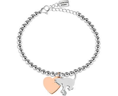 Bicolor náramek Kočka a Srdce LPS05AQI08