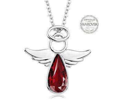 Náhrdelník s červeným krystalem Angel Rafael