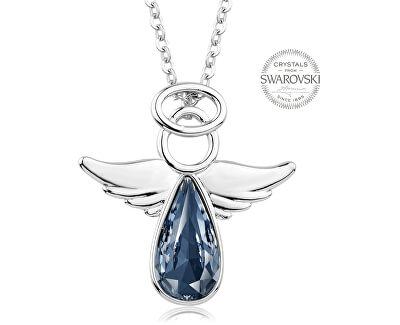 Náhrdelník s modrošedým krystalem Angel Rafael