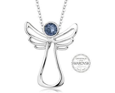 Náhrdelník s modrošedým krystalem Guardian Angel