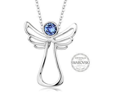 Náhrdelník s modrým krystalem Guardian Angel