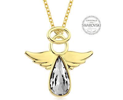 Pozlacený náhrdelník s krystalem Angel Rafael