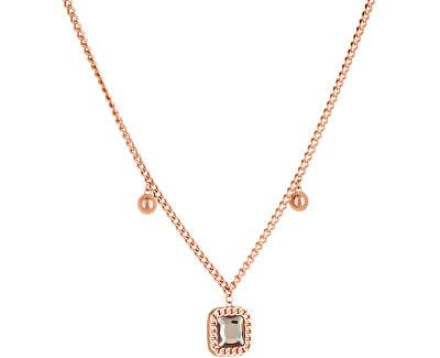 Dvojitý bronzový náhrdelník s krystalem LJ1281