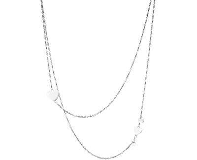 Ocelový náhrdelník se srdíčky LJ1082