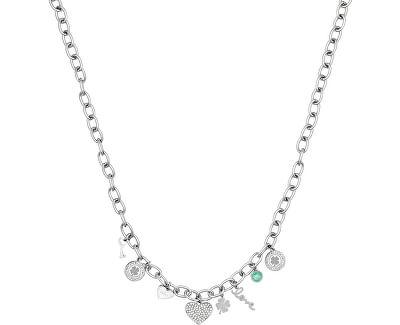Ocelový náhrdelník s přívěsky LJ1417