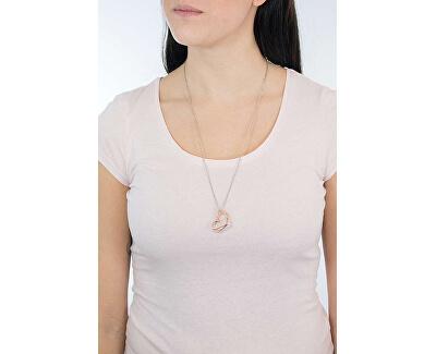 Srdíčkový bicolor náhrdelník s krystaly LS1872-1/2