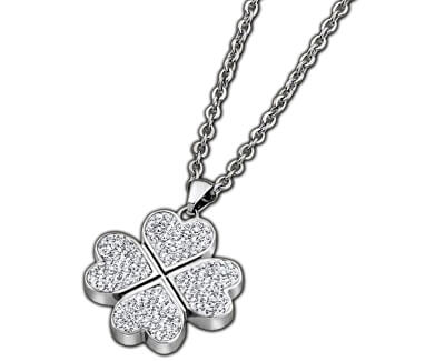 Lotus Style Náhrdelník čtyřlístek s krystaly LS1785-1/1