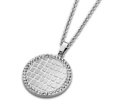 Lotus Style Ocelový náhrdelník s krystaly LS1778-1/1