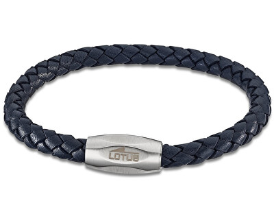 Tmavě modrý kožený náramek LS2048-2/2