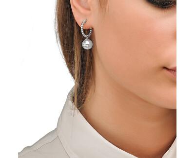 Kruhové náušnice s pravou perlou 14720.01.1.000.010.1