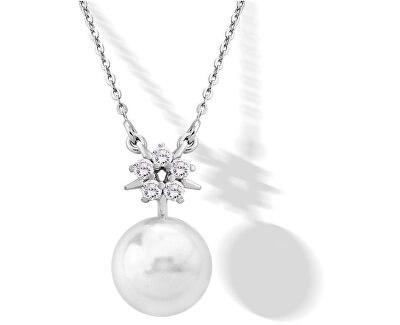 Stříbrný náhrdelník s perlou a kamínky 15314.01.2.000.010.1