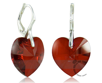 Náušnice Srdce V Siam 32125