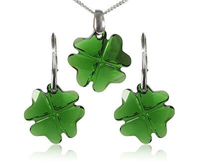 MHM Souprava šperků Clover Dark Moss Green 34199