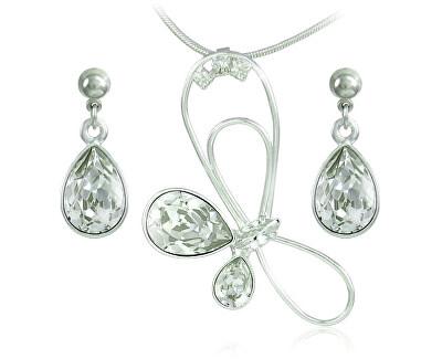 Souprava šperků Debia Crystal 34132 (náušnice, řetízek, přívěsek)