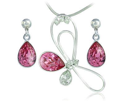 Souprava šperků Debia Rose 34133 (náušnice, řetízek, přívěsek)