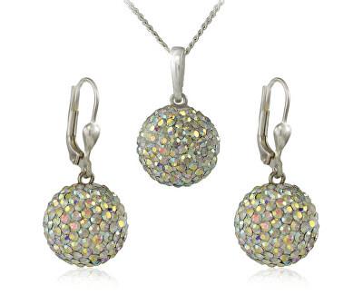 MHM Souprava šperků Kuličky M5 Crystal AB 34159