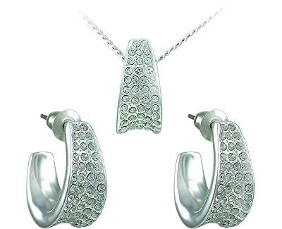 Souprava šperků Leona Crystal 34106 (náušnice, řetízek, přívěsek)