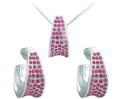 Souprava šperků Leona Rose 34105 (náušnice, řetízek, přívěsek)