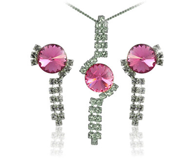 Souprava šperků Rivoli Rose 34141 (náušnice, řetízek, přívěsek)