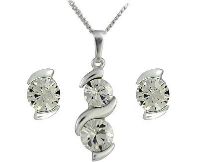 Souprava šperků Sisi Crystal 34146 (náušnice, řetízek, přívěsek)