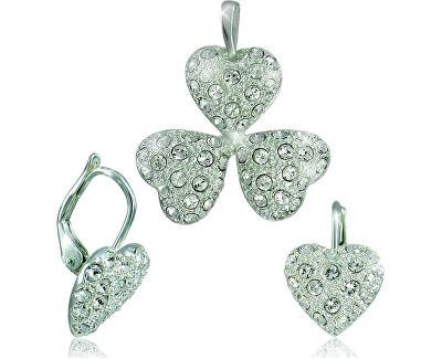 MHM Souprava šperků Srdíčka Krystal 34108