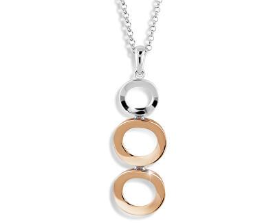 Modesi Elegantní bicolor náhrdelník ze stříbra M45014