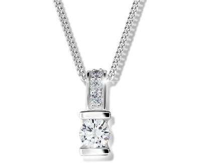 Stříbrný náhrdelník pro ženy M41094 (řetízek, přívěsek)