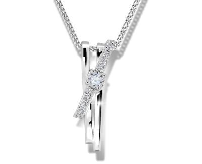 Překrásný stříbrný náhrdelník M41098 (řetízek, přívěsek)