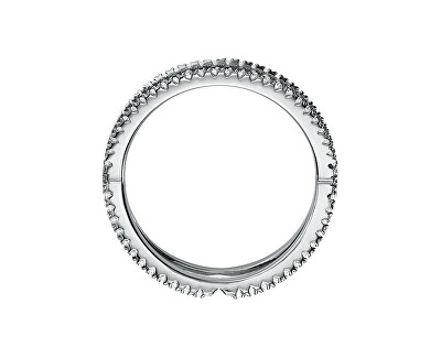 Inel strălucitor din argint cu zircon MKC1112AN040